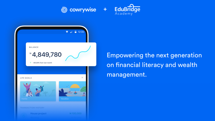 Cowrywise and EduBridge Academy Team Up In a Financial Literacy Initiative