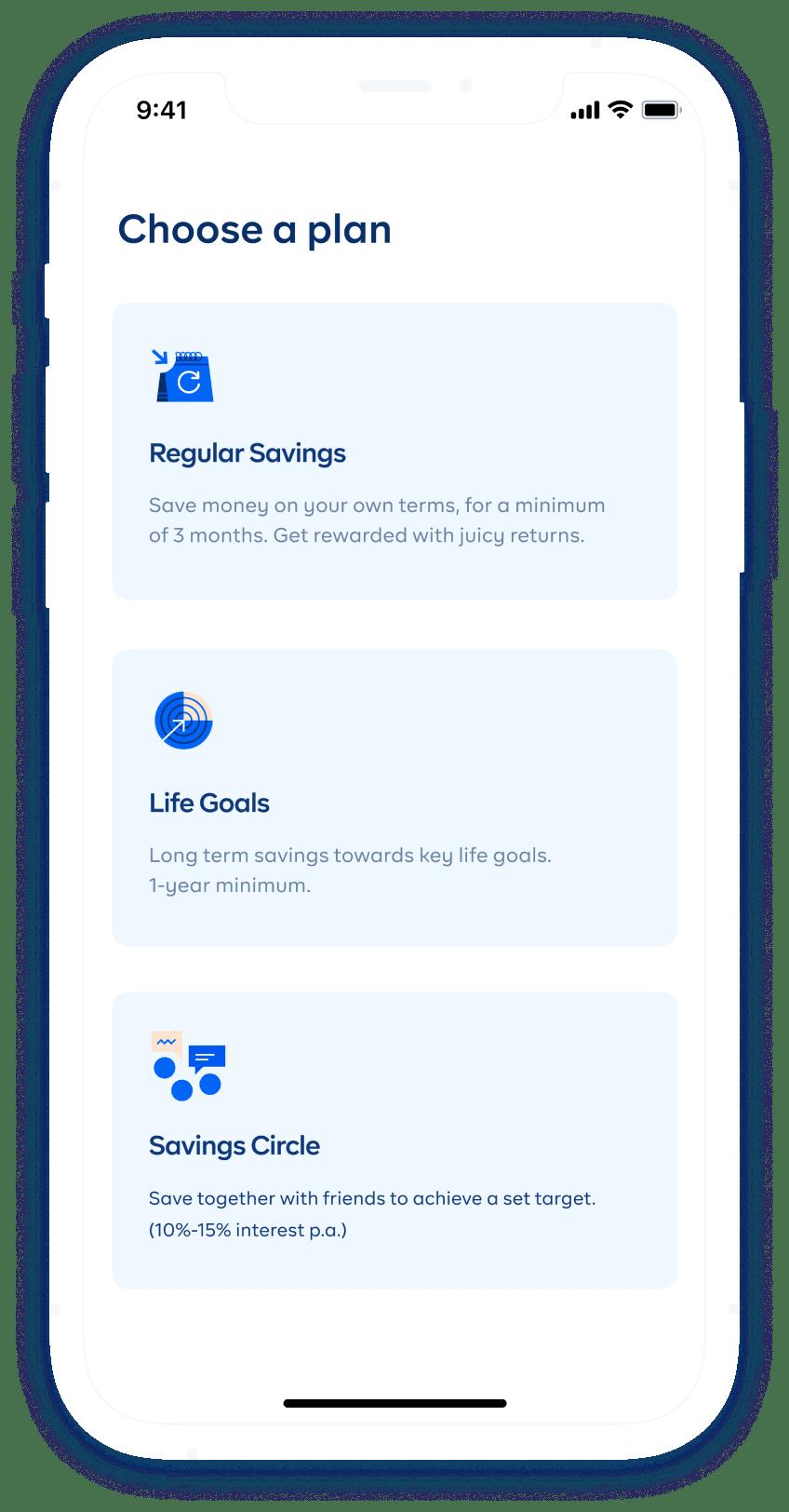 cowrywise mobile app savings screen
